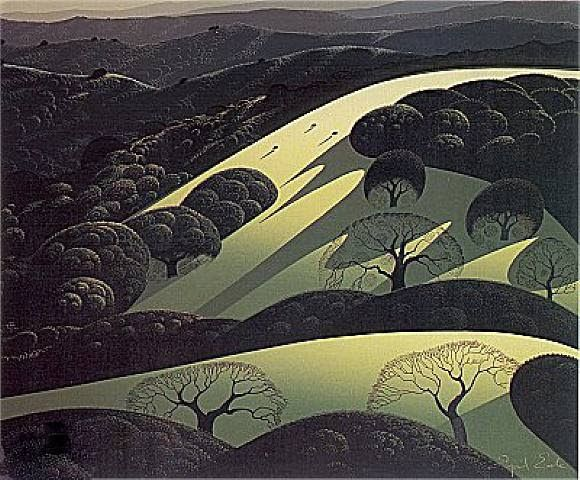 Site : www.eyvindearle.com Galerie : www.coastgallery.com/Eyvind_Earle/ As the shadow deep Early spring Rugged cliff ...