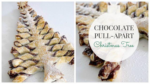 StyleNovice: Chocolate Pull-Apart Christmas Tree Recipe (3 Ingredients)