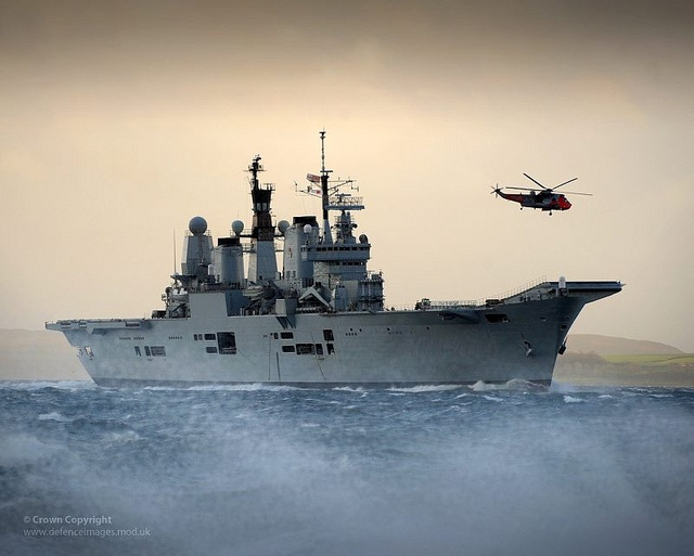 HMS Ark Royal Visits HMNB Clyde for the Final Time by Defence Images, via Flickr
