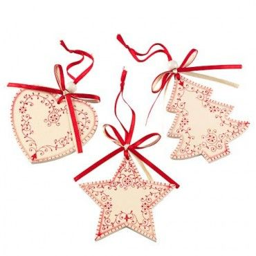Christmas Wood Tree Decorations 3pk - Christmas Nordic - Christmas Themes - Christmas