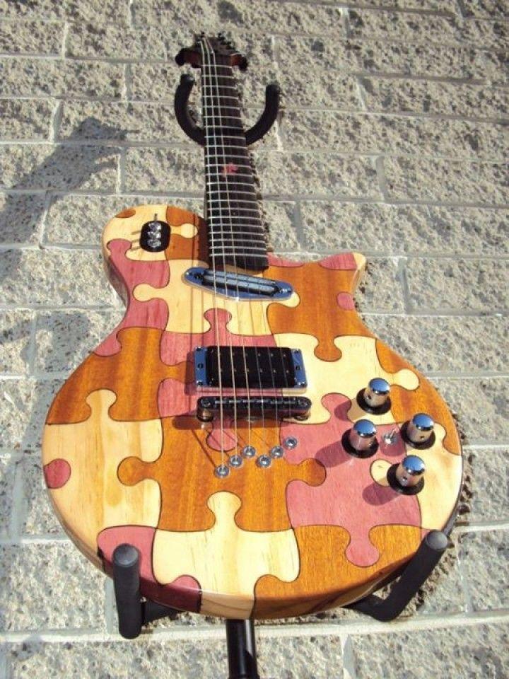 Puzzle Desenli Gitar