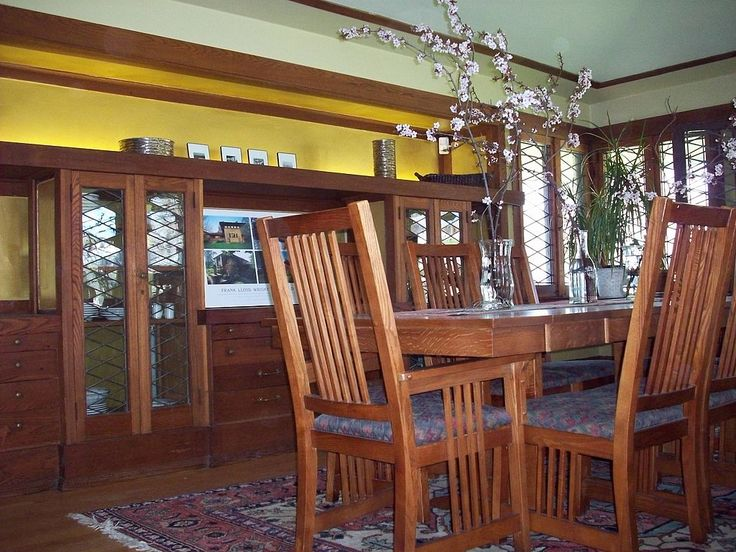 dining room with built in side board walter v davidson house 57. beautiful ideas. Home Design Ideas