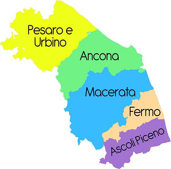 Marche - Cartina