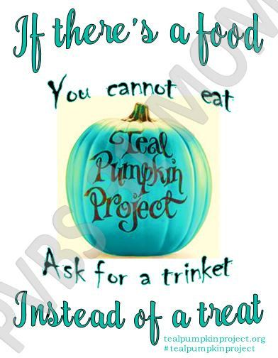 Teal Pumpkin Project Sign INSTANT DOWNLOAD by Pvbs31Mom on Etsy