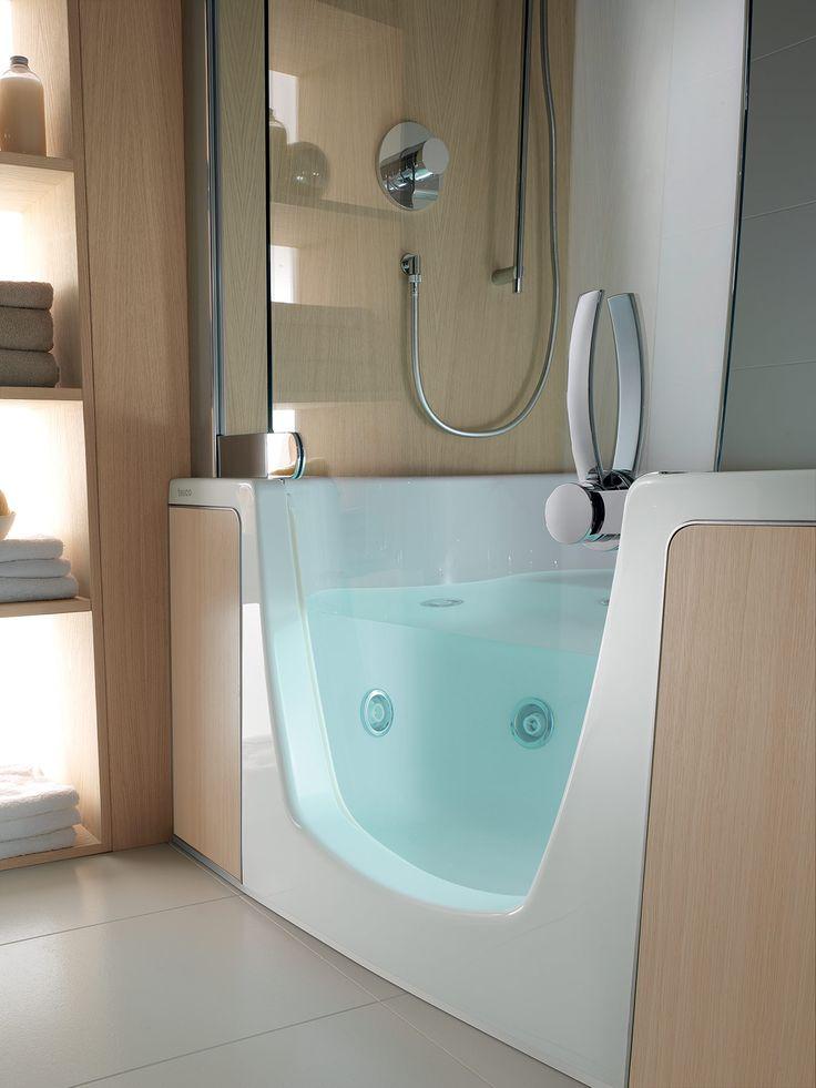 Transitional Combi Unit Bathtub & Shower