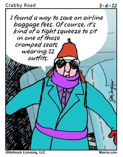 An easier way to avoid extra luggage fee's.  #travel #Humor