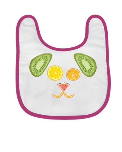 meyve şöleni - köpek / the fruit feast - the dog / baby pinafore / orange / lemon / kiwi / pear / banana / watermelon / pattern