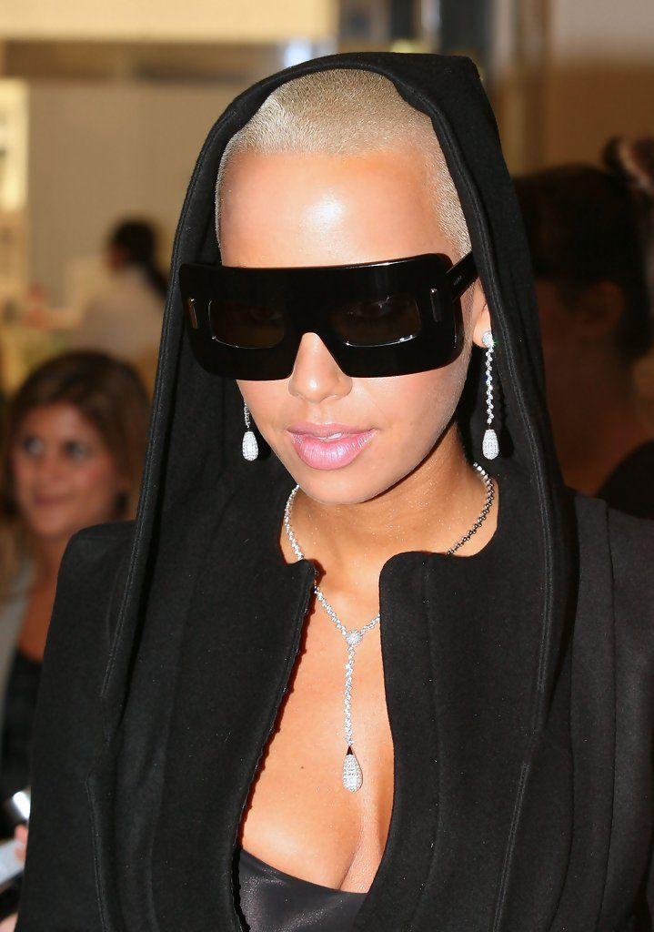 Amber Rose Designer Shield Sunglasses
