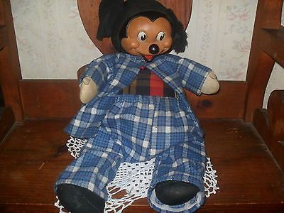VINTAGE MICKEY MOUSE DOLL VERY NICE GOOD CONDITION CIRCA 1950--1960