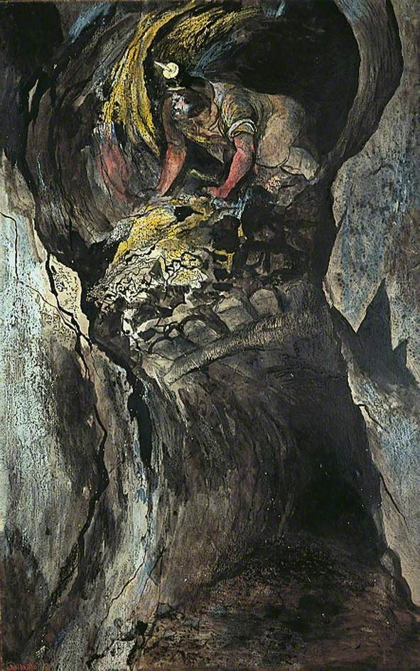 Cornish Tin Mine, Emerging Miner, 1943 by Graham Sutherland (English 1903–1980)