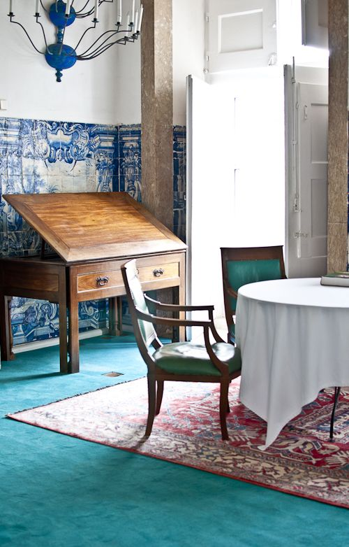 pieces that tell stories. the writing desk is from a 19th century Portugese ship and has many secret drawers.