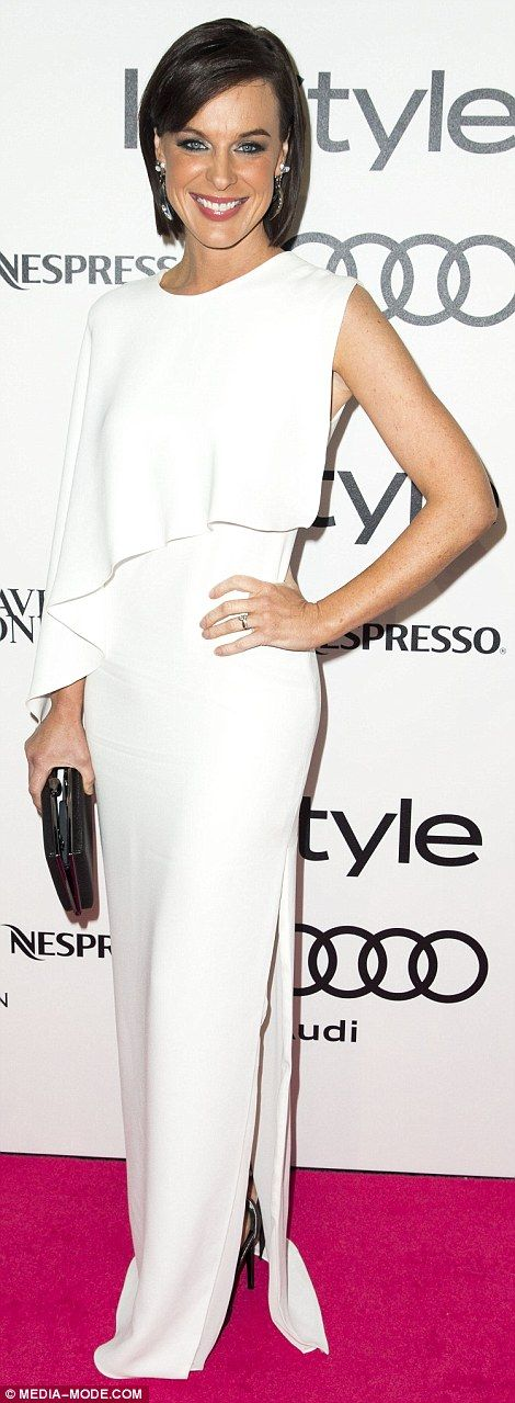 Matching Network Ten ladies! Wearing white to the fashion bash were Natarsha Belling (left...