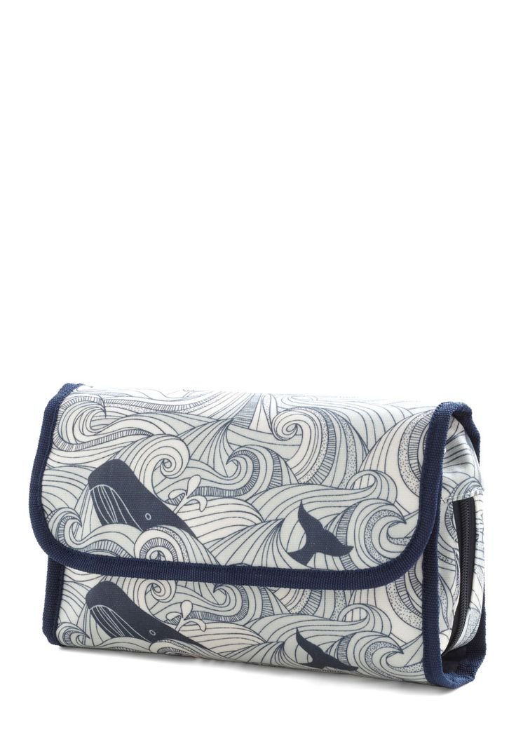 Swell Acquainted Travel Case - Multi, Blue, Travel, Quirky, Novelty Print, Nautical: Travel Cases, Travel Bags, Bath Decor, Vintage Bath, Makeup Bags, Swelling Acquaint, Acquaint Travel, Modcloth Com, Retro Vintage