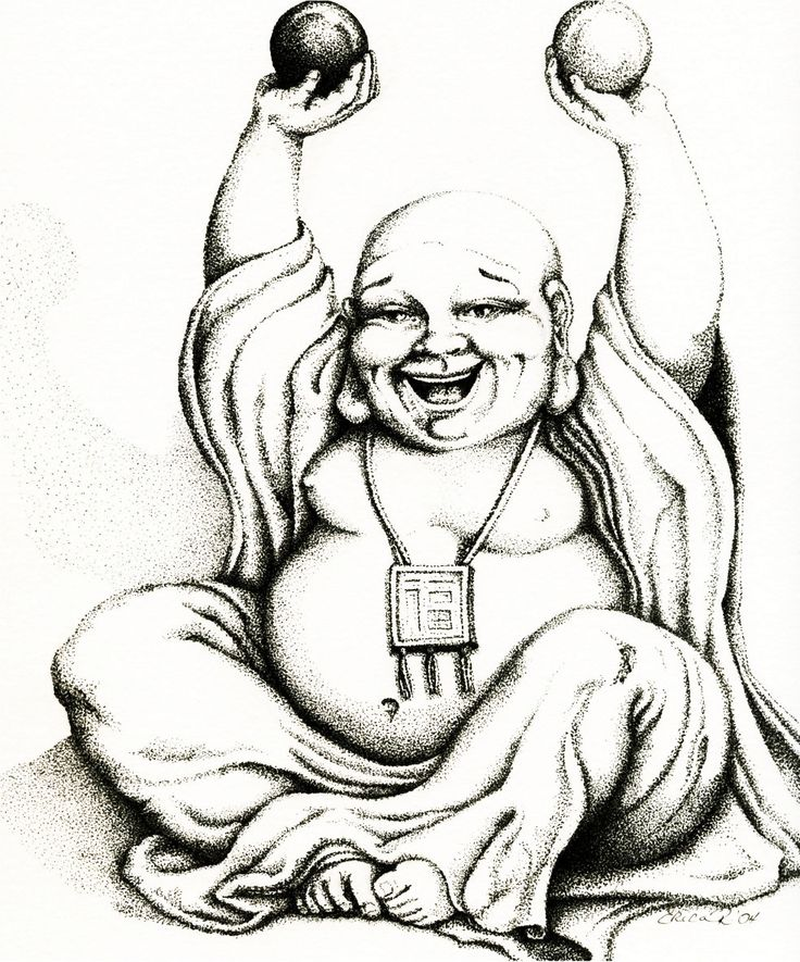 Hotei the Laughing Buddha from Etsy artist Erica Richards