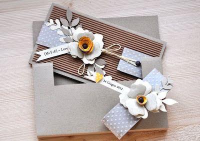 Hobby di Carta - Il blog: CARDS: kraft e fiori per un matrimonio...anzi due! by Manu