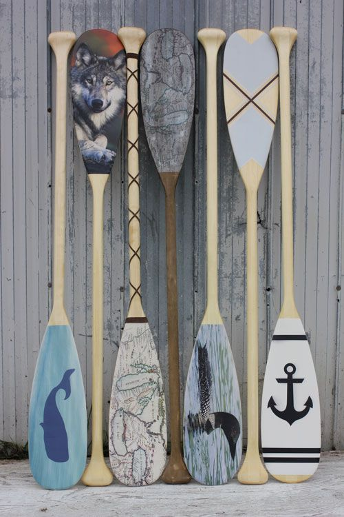Custom decorative paddles by Georgian Bay Tackle.