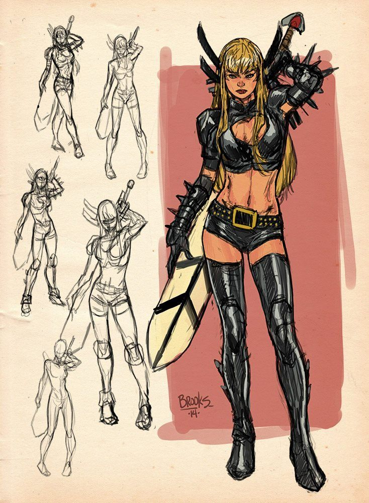 Magik sketches by Mark Brooks