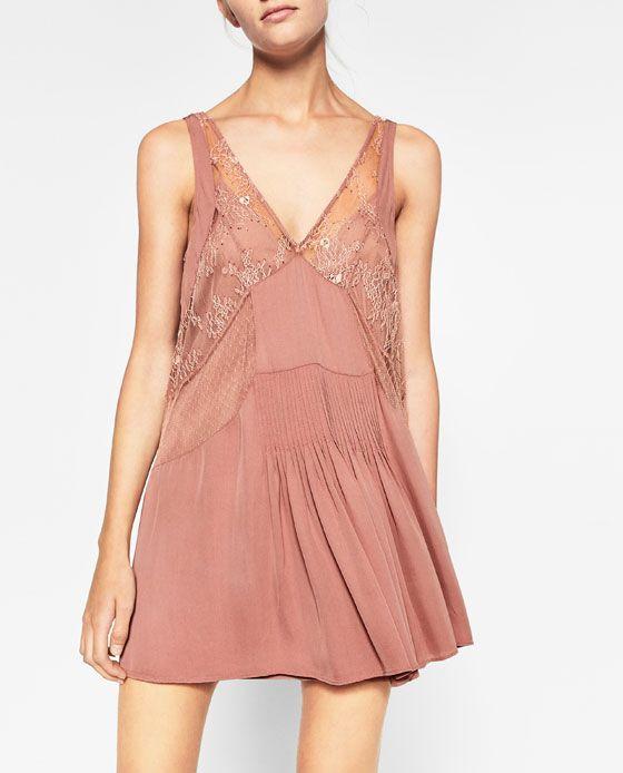 Image 4 of MINI SLIP DRESS from Zara