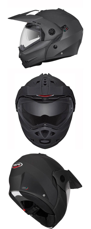 dfc50bd1 Caberg Tourmax Helmet in Matt Black - Adventure touring flip up helmet with  built-in