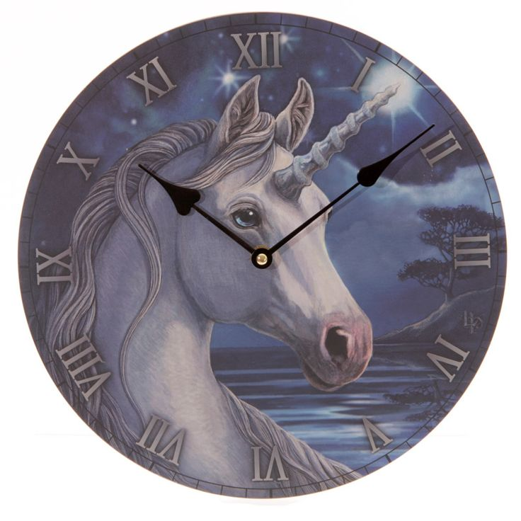 Fantasy Unicorn Design Decorative Wall Clock Every room needs a clock and with our range of fantasy funky and colourful MDF picture clocks you will