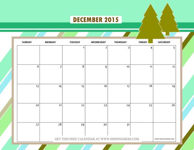 Calendar December 2015 January 2016