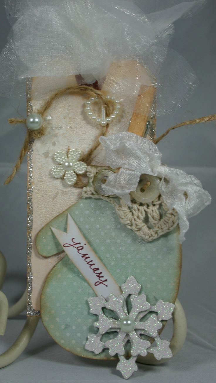 Scrapbook ideas with ribbon - January S Tag Project Scrapbook Com