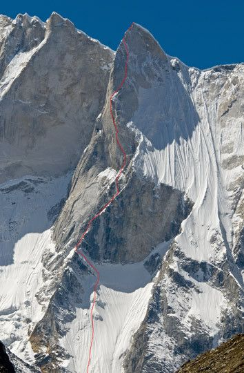 American climbers Conrad Anker, Jimmy Chin and Renan Ozturk climbed Meru Central (6310m) via the Shark's Fin in a twelve-day push. They summited on October 2 to become the first team to complete this highly sought-after objective.