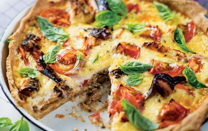 Tomato pilchard tart