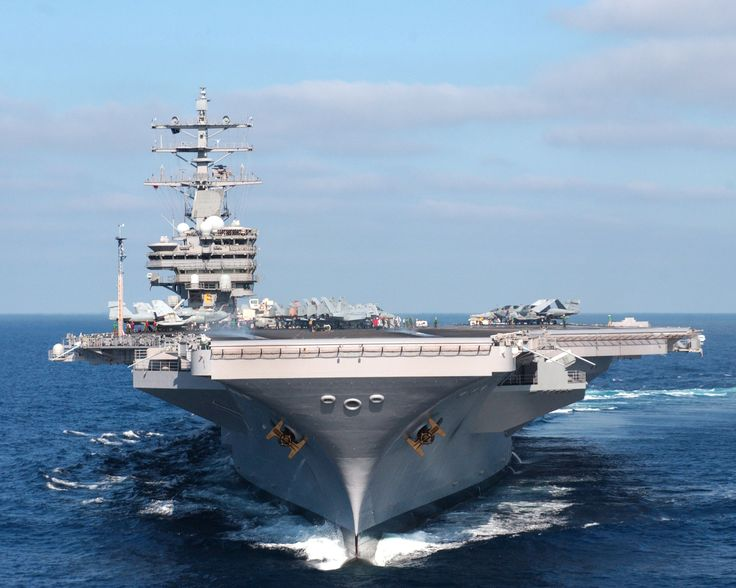"United States Navy USS ""Anything"", this happens to be the USS Ronald Reagan"