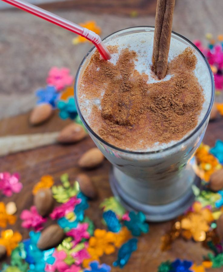 Have you tasted horchata? It's a creamy beverage from Spain and Latin America made from rice or nuts and spiced with cinnamon. It tastes like a rich dessert, and with good reason, because it is often made with sugar and sweetened condensed milk. We created this healthy Horchata Shakeology recipe to help you celebrate Cinco de Mayo with a yummy treat that won't end up on your waistline. #shakeology #recipes #vegetarian #beverages #cincodemayo