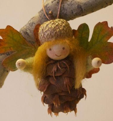 Pinecone fairy ornament - fall decor // Toboz tündérek - őszi díszek gyerekeknek // Mindy - craft tutorial collection