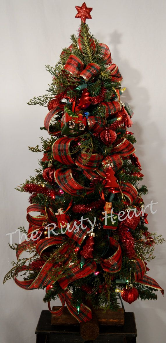 24 Decorated Christmas Tree by TheRustyHeart on Etsy
