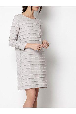 Grå INTROPIA waffle texture kjole