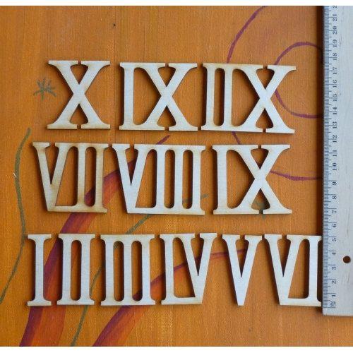 Römische Ziffern Zahlen aus Holz 50 mm Hoch zum von Holzteilchen