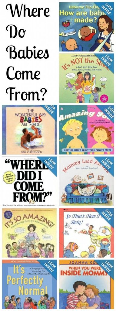 10 Books to Help you talk to kids about sex and how babies are made