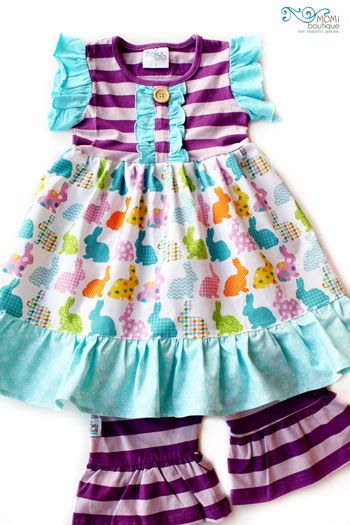 Evelyn's Easter dress Bunny girl toddler boutique clothing