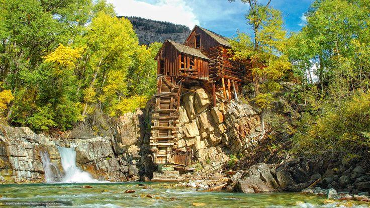 Crystal, Colorado | Tlcharger Fond d'ecran Moulin en cristal, Colorado, automne, arbres ...