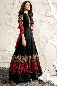 http://www.gebastore.com/salwar-kameez/collections/karma-mother-daughter-special/black-heavy-embroidered-shilpa-shetty-designer-silk-fabric-party-wear-anarkali-karma-1583-mother.html  #blackanarkali #shilpashetty #karma #model #indian #uk #usa #pakistani #canada #bride #wedding #traditional #partywear #designer #festive #casualwear #printed #formal #salwar #suit #salwarsuit #salwarkameez #shalwar #sarees #sari #lehenga #choli #lehengacholi #ethnicwear #gebastore