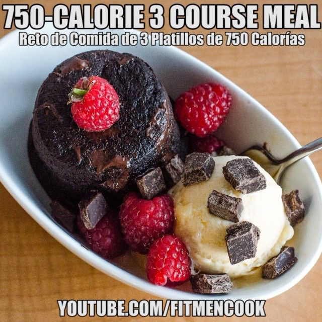 "Take the challenge!!  This year for Valentine's I challenged myself to see if I could come up with a 3-Course Meal in 750 calories. 1) Refreshing watermelon salad, 2) chicken piccata & 3) banana raspberry brownies! Click the link in my profile or go to FitMenCook.com for both the video and recipe. Tag your ""boo thang""  and ask them to take the challenge with you - show how much you care by getting busy in the kitchen...not that kind of busy  - I meant cooking y'all! Boom. (traduccion abajo)…"