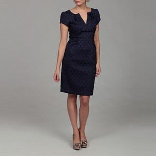 navy batik dress