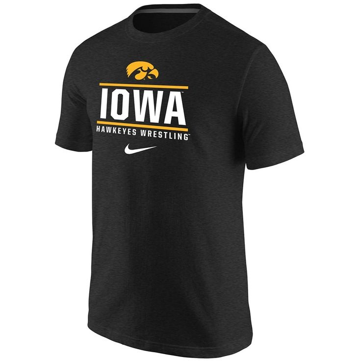 Iowa Hawkeyes Wrestling Nike Triblend T