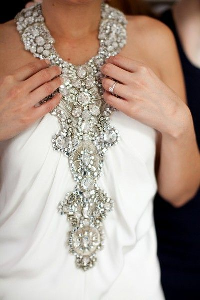 Chanel: Fashion, Chanel, Packham Asteria, Chiffon Wedding Dresses, Parties Dresses, Trunks Show, Beaches Wedding Gowns, Bibs Necklaces, Jenny Packham