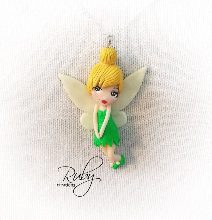 Tinkerbell, polymer clay necklace by Ruby-creations on DeviantArt