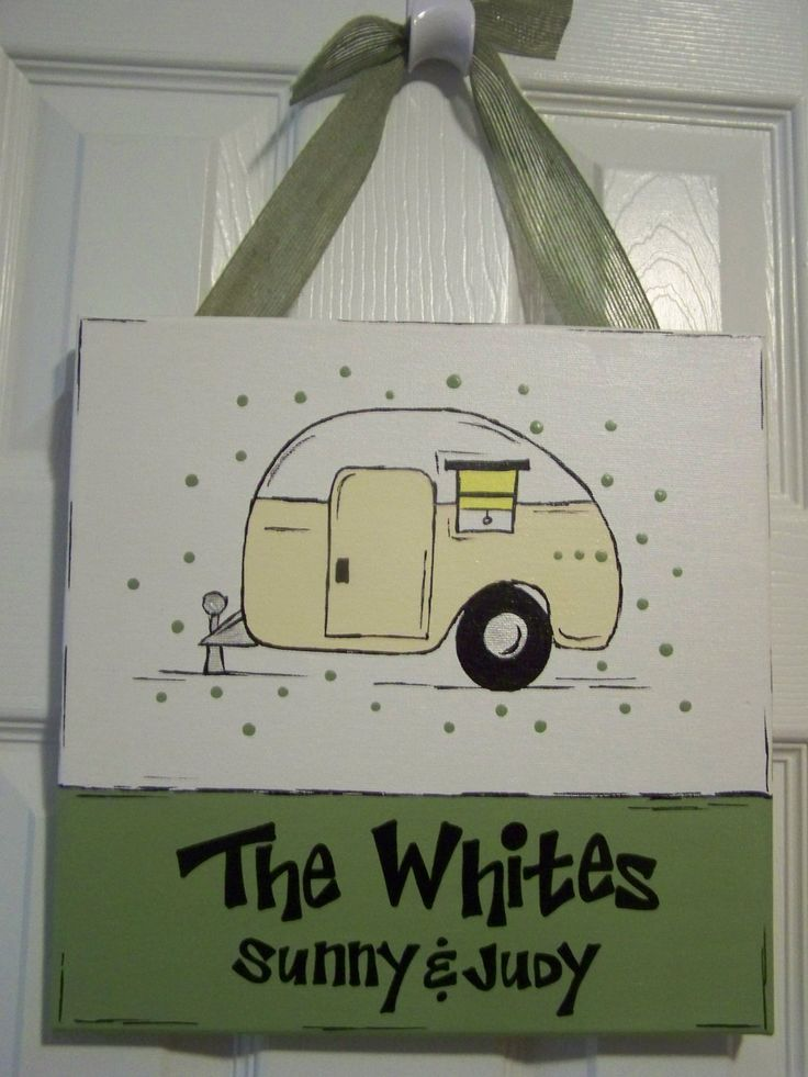 Cute!-- Custom Happy Campers' Sign by GreenPearlPaintshop on Etsy, $26.00