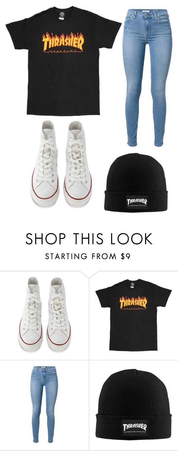 School by clairathegreat on Polyvore with 7 For All Mankind and Converse We … – Outfits – #on #clairathegreat #Converse #Mankind #mit