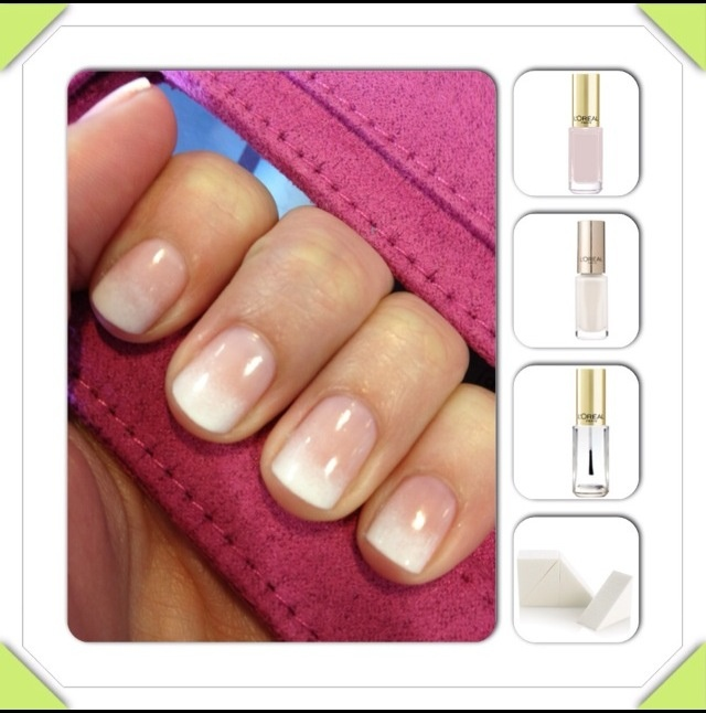 Subtle ombre french manicure