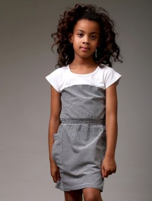 Buy Littlehorn Candy Dress Black Stripe