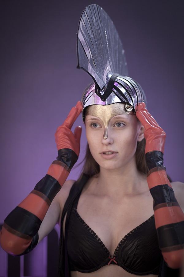 Kulisy finału Top Model 3: Aleksandra Krysiak podczas przymiarek do pokazu bielizny Esotiq, fot. Agnieszka Taukert