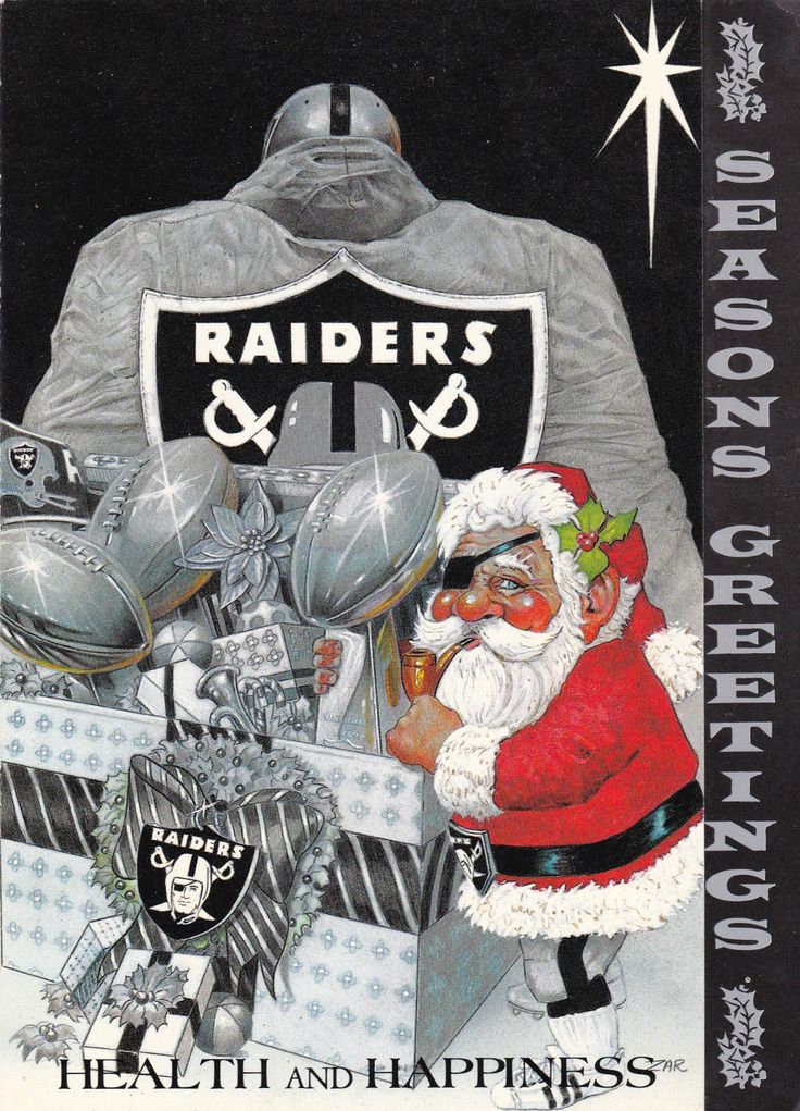 1985 Los Angeles Raiders Christmas Card Oakland Raiders Raiders Raiders Baby