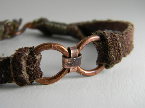 Mens Hammered Infinity Suede Bracelet Small on Etsy, $18.00